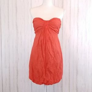 J. CREW Astin Crinkle Strapless Mini Dress sz 2P